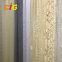 China 100 Polyester Lace Curtain Fabric , Lace Table Cloth Upholstery Fabric 50-200gsm Weight on sale