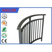 Buy cheap Powder Coated Extrusion Aluminium Balustrade Profiles For Interior Stairway 85 Mm Width product