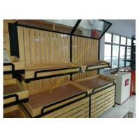 Buy cheap Supermarket Wooden Display Rack Fruits / Vegetables Display Rack With Mirror from Wholesalers