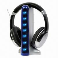 Buy cheap Handsfree Bluetooth Headphones with FM Radio, for Music Player, iPod, iPhone, MP3/MP4 and Laptop product