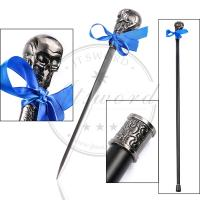 China Skull Head Custom Made Walking Canes Anime FKuroshitsuji Walking Stick Sword on sale