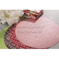 Buy cheap PP Raffia,EVA,11.8*17.71 inch,Rred,purple,pink,orange,Knitting,Outdoor Round Vinyl Placemats product