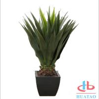 Buy cheap Silk / Plastic Artificial Green Plants Musa Basjoo Plant Pot For Hotel And Plaza product