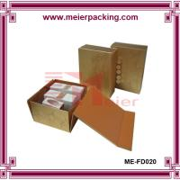 Buy cheap Foldable golden art paper makeup box packing custom made with hot foil logo ME-FD020 product