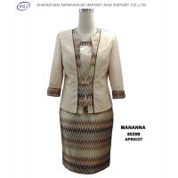 Buy cheap MANANNA ladies grey suit /apricot suit clothing stores  product