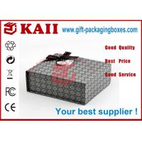 Buy cheap Rectangle Gift Packaging Boxes With Magnetic Closure / Black Bow Ribbon from wholesalers