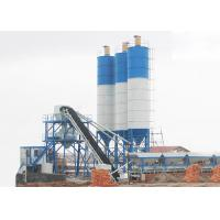 Buy cheap Statinary Dry Ready Mix Concrete Plant 150m3/H Panel Computer Control With Belt Conveyor product