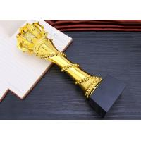 Buy cheap Elegant And Luxury Designed Resin Trophy , Gold Plated Glorious Souvenir product