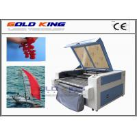 Buy cheap co2 CCD camera auto feeding low cost laser cutter laser cutting leather fabric cutting machines from Wholesalers