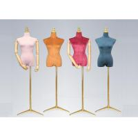 Buy cheap Female Colorful Flannelette Decorative Shop Display Mannequin With Golden Metal Stand product