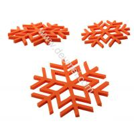 Buy cheap Kitchen Decorative Heat-resistant Silicone Trivet Snowflake Shape Table Mat Blue Color Pla product