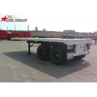 Buy cheap Two Axle 20FT 8 Tires White Flatbed Car Trailer With Twist Locks , Long Life product