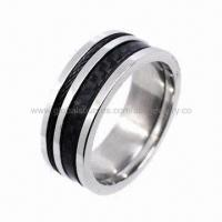 China Men's Stainless Steel Ring, Available in Gold/Rose/Black Plating for sale