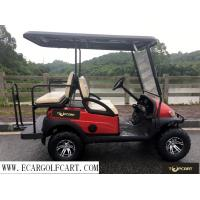 Buy cheap Red 4 Seater Golf Buggy , Off Road Electric Golf Cart With Steel Front Bumper product