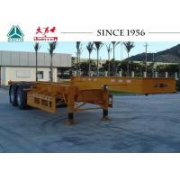 Buy cheap 20/40FT Skeletal Trailer Chassis , 2 Axles Gooseneck Container Trailer product