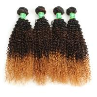 Buy cheap Wholesale 8A Grade Ombre 3 Color Curly Brazilian Hair Weft product