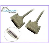 China Gold plated 35 N Max Insertion Force 50 pin male to 50 pin male SCSI Ribbon Cable on sale