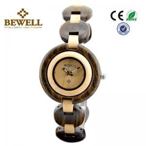 Green Sandalwood And Maple Wooden Wrist Watch , all wood watch men