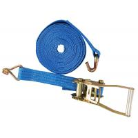 Buy cheap Lashing Belt Ratchet Tie Down Straps With Hooks Wear Resistant Blue Color product
