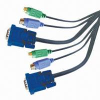 Buy cheap VGA Cables/Adapter-04 with Nickel-plated Video Connectors, Customized Lengths are Accepted product