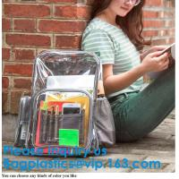 Buy cheap PVC Clear Transparent Plastic School Bag Backpack For Kids Children,Fashion PVC Holographic Lady Magic School Bag Backpa product