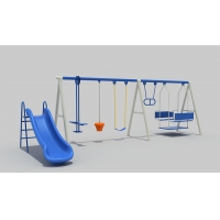 Buy cheap Three People Adjustable STN Small Backyard Swing Sets product