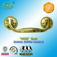 Buy cheap Burial Metal Casket Handle,H030 zamak coffin handle  Funeral Accessories and Hardware gold color size:19*7.5cm product