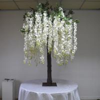 Buy cheap Real Wood Trunk Silk Wisteria Wedding Decoration Tree Moisture Resistant product