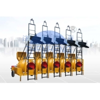 Buy cheap High Automation JZR350 Diesel Concrete Mixer Hydraulic Hopper With Ladders product