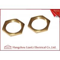 Buy cheap Brass 20mm 25mm Hexagon Locknut Self Color CNC Machine Processing Female Thread product