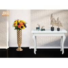 Buy cheap Trumpet Shape Floor Vases Homewares Decorative Items Gold Leafed Fiberglass from wholesalers