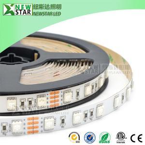 China SMD5050 RGB Led Strips 30/60/72/96/120/144/240leds full color DMX 5050 12v 24v 5050SMD rgb led strip lights for KTV bar on sale