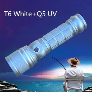 China CREE XML T6+Q5 Blue UV Two Light Source LED Flashlight Outdoor Night Hunt Fishing LED Light Lamp on sale