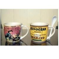 Buy cheap Export 9303 There spoon ceramic mug custom LOGO coffee mark cup from Wholesalers