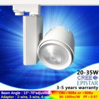 China free changeable lens 40 degree 4000K CRI 90 CREE 20W Dimmable led track light with 4wire adaptor on sale