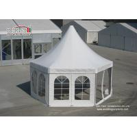 Buy cheap PVC Glass Outdoor Big Hexagon High Peak Campo Tent , PVC Marquee Wedding Party Event from Wholesalers