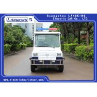 Buy cheap 4 Seats Electric Club Vehicle With Basket / Mini Electric Patrol Bus With Toplight On Road product