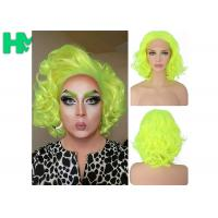 Buy cheap Graceful Green Curly Famale Colonial Costume Wig 12 Inch HT Fiber Material product