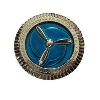 Buy cheap Metal anniversary emblem badge with epoxy color filled, metal safety pin badges, product