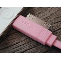 Buy cheap Pink 2 In 1 Cell Phone USB Cable 100cm , IPhone Micro Usb Charging Data Cable product