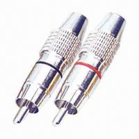 Buy cheap RCA connector, suitable for 24k gold-plated metal shell from wholesalers
