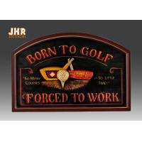Buy cheap Golf Club Wall Decor Decorative MDF Wall Plaques 3D Wall Art Signs Pub Sign Green Color product