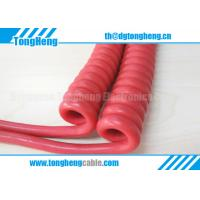 Buy cheap Multicore Highly Flexible And Copper Spiral Shield Customized Curly Cable VW-1 Rated product