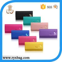 China Ladies multi-color PU leather wallet on sale