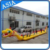 Buy cheap Yellow Dragon Banana Shaped Inflatable Boats 12 Person Water Sport Games For Adult product