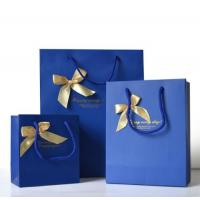 Buy cheap Custom Luxury Bouquet Clothing Shopping Retail Black Paper Bags With Logo Print product