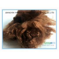 China Bruciato Color Polyester Fiber , Polyester Staple Fibre From Pet Bottles on sale