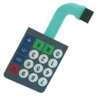 Buy cheap PC / PET Gloss Metal Dome Membrane Switch Waterproof For Apparatuses product