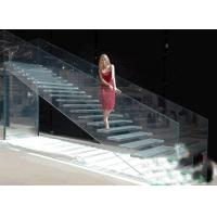 Buy cheap Lowest Factory Price 8mm flat clear laminated safety glass for stairs / toughened glass product
