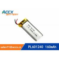 China 601240 pl601240 3.7v 160mah lithium polymer rechargeable battery for talking pen, recording pen, wearable product on sale